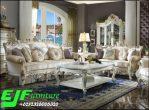 Sofa Tamu Ukir Jepara Terbaru putih Emas 313