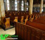 Bangku Gereja Jati Minimalis Klasik Jepara Terbaru