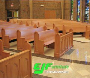 Bangku Gereja Minimalis Jati Terbaru Jepara 18