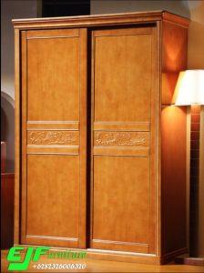 Lemari Jati Minimalis Dua Pintu Model sleding 46