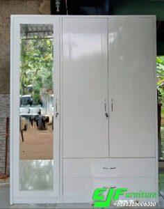 Lemari Minimalis Tiga Pintu Warna Putih Terbaru 48