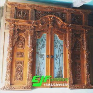 Pintu Gebyok Ukir Jepara Ukuran 300 cm