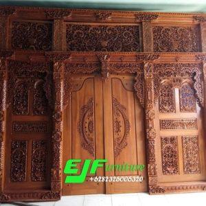 Pintu Gebyok Ukir Jepara ukuran 350 cm
