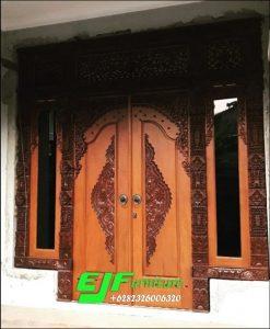Pintu Rumah Gebyok Ukir Jepara jendela gendong