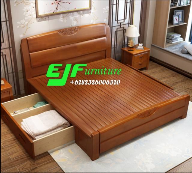 Tempat-Tidur-Jati-Minimalis-Modern-Laci-97 Tempat Tidur Jati Minimalis Modern Laci 97 Tempat-Tidur-Jati-Minimalis-Modern-Laci-97