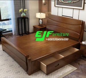 Tempat Tidur Minimalis Terbaru Jati Jepara 93