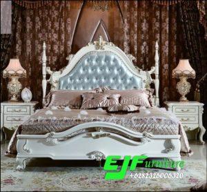 Tempat Tidur Ukir Jepara Duco Putih Terbaru 028