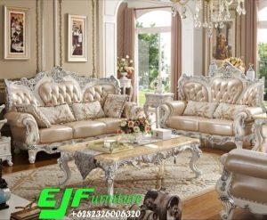 Sofa Tamu Ukir Jepara Terbaru Duco Putih 318
